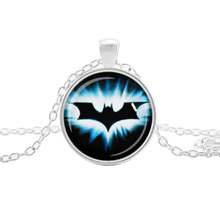 Hot Vintage Round Glass Spiderman Green Lantern The Flash Batman Superman Pendant Necklace Cool Jewelry For Women & Men Collar(China)