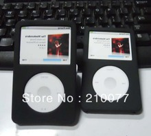Free Shipping 2PCS/LOT Black Silicone Skin Soft Cover Case for iPod Classic 80GB 120GB New Classic 160G 3rd(China)
