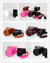Black/White/Pink/Brown/Coffe Leather Camera Case Camera Case Bag for Canon EOS M3 DSLR Camera Free Shipping