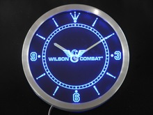 nc0188 Wilson Combat Neon Sign LED Wall Clock(China)