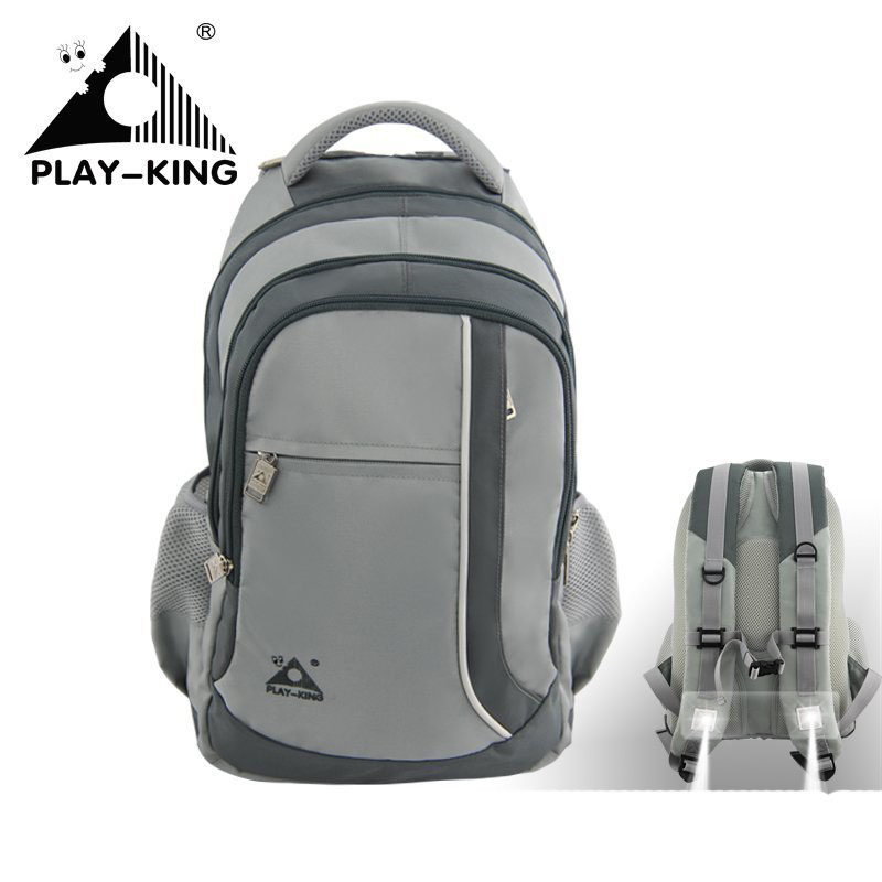 Playking outdoor backpack, mountaineering bag, multi-function spotlight, backpack, camping men women, travel leisure