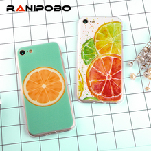 3D Cute Fresh Fruit lemon orange peach pomegranate TPU Soft Silicone Cover For iphone 7 6 6s Plus SE 5 5s Silicone Phone Cases(China)