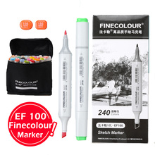 finecolur ef100 cartoon sketch dual marker pens 36 48 60 72 set not tombow copic graffiti markers alcohol comic pen fine liners