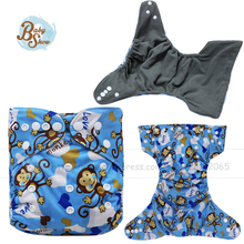 2017 New Arrival Reusable Baby Diapers Bamboo Charcoal Size Adjustable TPU Waterproof  Fabric Cloth Diaper Free Shipping