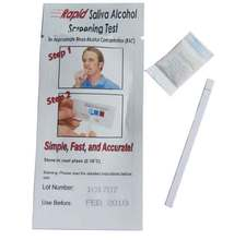 100Pcs/lot Disposable Alcohol Tester Wholesale Saliva Alcohol Test Kits Rapid Saliva Alcohol Screening Test Strip(China)