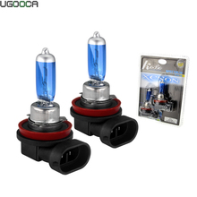 2 x H11 Xenon Halogen Lamp Car Auto HeadLight Bulb Kit 5000K 12V 55W