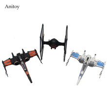 3pcs/set Star Wars The Force Awakens Ship Spaceship Model Toy PVC Figure Collectible Model Toy 14cm KT3973(China)