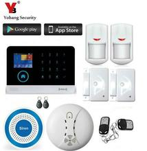 Yobang Security 3G WIFI GPRS SMS Wireless Alarm System Support IP Camera Metal Remote Control 3G Alarm WCDMA/CDMA Security Kits(China)