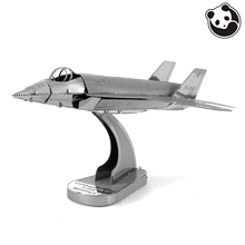 Panda model@PLANES 3D Metal Model Puzzles F35 LIGHTNING II Chinese Metal Earth Stainless Steel Military Creative ICONX(China)