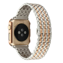 Black Silver Rose Gold Stainless Steel Watch Band Strap Apple 42mm 7 Bead Metal Men Wristwatch Bracelet I181. - Fnzepile Store store