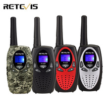 2pcs 4 Color Retevis RT628 Kids Radio Walkie Talkie Mini 0.5W UHF Frequency Portable Hf Transceiver A1026(China)