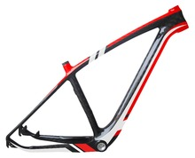 full carbon 29er mtb frame OEM design carbon 29 inch mountain bike frame paint in two colors red/white super light(China)