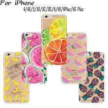 TPU Cover For Apple iPhone 4/4S/5/5S/6/6S/5C/SE/6Plus/6S+ Case Cases Phone Shell Variety Of Fruit Combinations Popular Hot !(China)
