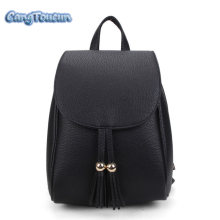 CANGTOUCUN Women Bag Fashion Leather Backpack Tassel School Backpacks For  Teenagers Girls Black Bag Solid Sac 4d8f329e8c