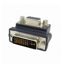 100PCS/lot Down Right Angled 90 Degree VGA SVGA Female To DVI 24+5 male DVI to RGB Adapter