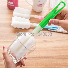 Top Quality Cheap Uesful Sponge Brush Bottle Cup Glass Washing Cleaning, Kitchen Item Cleaner Tools for Dish Ship in Random(China)