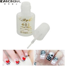 Nail Art Glue Tips Glitter Uv Acrylic Rhinestones Decoration With Brush Nail Tools 10G Foil Sticker Nail Transfer Glue