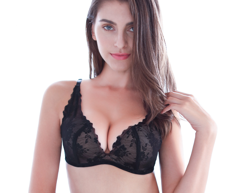 PAERLAN Brand Back Closure Type Seamless Push Up Bra 9