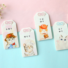 Korean Cute Animal Pets Bookmark Paper Kawaii Cat Book Mark School and Office Supplies Box Bookmarks Note Card Gifts 30pcs/lot(China)