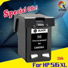 C6656A 1 Bk Ink Cartridges For HP 56 HP56 Photosmart PSC2105 PSC2110 PSC2115 PSC2171 PSC2175 PSC2179 Inkjet Printer(China)