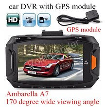 with GPS module Ambarella A7 Car DVR GS90A Camera HD Recorder Night Vision Dash Cam digital video camcorder track record carcam