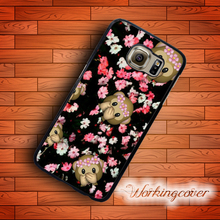 Fundas Monkey Emoji Rose Flower Case for Samsung Galaxy Note 7 5 4 3 Case Cover for Galaxy S7 S6 S5 S4 S3 Mini Active Case.