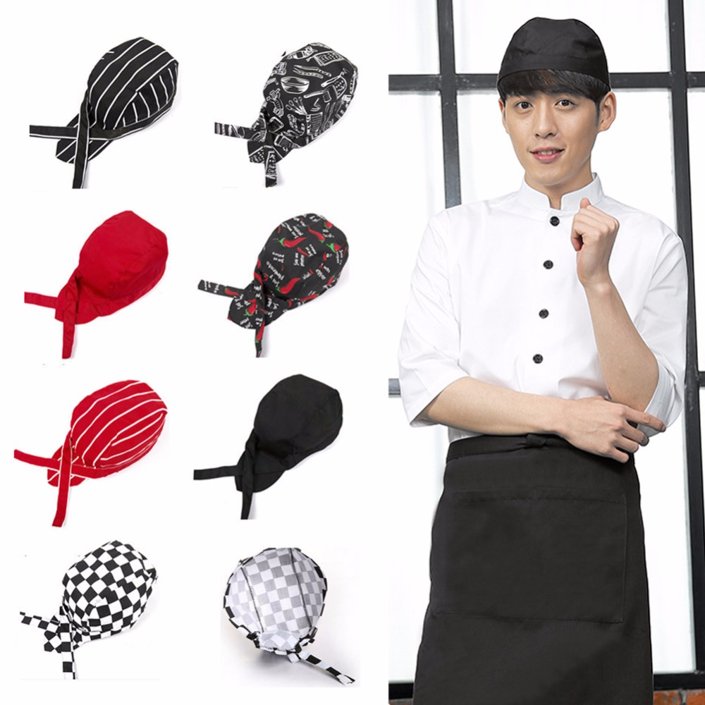Free Shipping 2 PC Chef Cook Black Basic Skull Cap Hat Beanie New