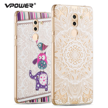 For Huawei Honor 6x 3D Relief Soft Case Back Cover,Vpower High Quality Cartoon Protector Case Honor 6X Mobile Phone Shell(China)