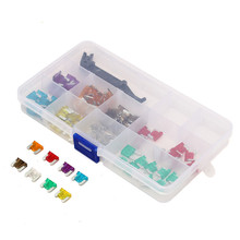 100Pcs 3/4/5/7.5/10/15/20/25/30/35A AMP Low Profile Micro Blade Mini Fuse Assortment Set APS Car Auto Truck 12x5x10m