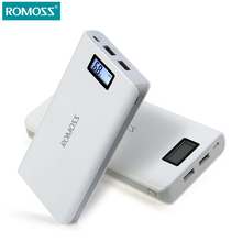 Original 20000 mAh ROMOSS Sense 6 / 6 Plus LCD Portable Power Bank Charger External Battery Fast Charging For Phones Tablet PC(China)