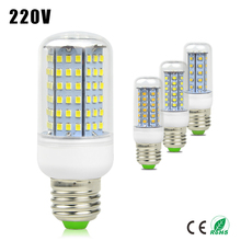 1X E27 220V LED Corn Bulb 30 48 56 69 89 102 126 LEDs lamp Replace CFL 7W 12W 15W 20W 25W 30W 35W 40W Compact Fluorescent Light