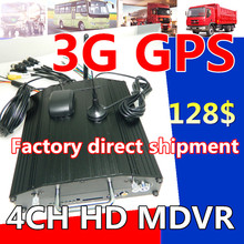 4CH GPS car hard disk video recorder to monitor the host spot wholesale 3g gps mobile dvr 4ch hd mdvr russian/english mdvr