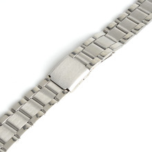 2017 New Men Women 12mm Silver Stainless Steel Watch Band Strap Bracelet Straight End Model 1,Wrist Watchband SB0578(China)