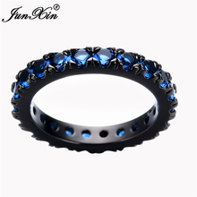 Size 6/7/8/9/10 Women Fashion Jewelry Rings Blue Finger Ring 10KT Black Gold Filled Promotion RB0056