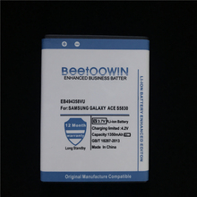 BEETOOWIN 1350mAh For Samsung Galaxy Ace 5830 S6802 B7510 i569 i579 i619 S5670 S5830I S5838 S6102 S6108 S5830 Battery EB494358VU