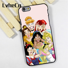 LvheCn phone case cover for iPhone 4 4s 5 5s 5c SE 6 6s 7 8 plus X ipod touch 4 5 6 All Princess Funny Ariel Snow White Belle(China)