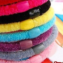 10 Pcs/lot New Candy Color Elastic Hairbands/ Ponytail Holder/ Hair ties for Women(China)