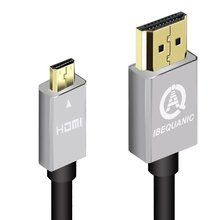 Micro HDMI Cable 1m 2m 3m 5m Type D to HDMI Type A High Speed Cable with Ethernet Gold Plated Support 3D 4K Audio Return Channel(China)