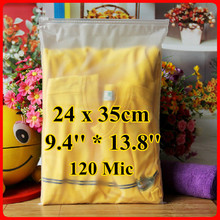 Free Shipping 100pcs/lot 24cm*35cm*120mic Frosted Plastic Bag, Christmas Garment Pouch, Plastic Zip Bag, Resealable Plastic Bag