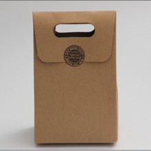 10*6*15.5cm New Retro Zakka Kraft Paper Gift Bag Paper Bag Cake&Cookie Bag Baking Western Point Packaging Paper Bag