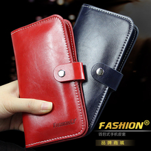 "Vintage Handbag Leather Wallet Universal 5.5"" Retro Pouch Case For Doogee x5 x6 pro y100 f3 f5 Elephone p8000 p7000 p9000(China)"