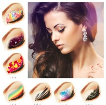 4pcs/lot Temporary Eye Tattoo Water Transfer Eyeliner Party Eyeshadow Sticker Beauty Cosmetic Designs(China)