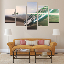 Hot sale battleship Prints Canvas Living Room 5 Pieces Paintings wall art pictures for home decoration bar pub XZ-29(China)