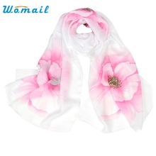 Womail Good Deal Good Deal  Fashion Women Soft Flowers Print Style Wrap Lady Shawl Chiffon Scarf Gift 1PC