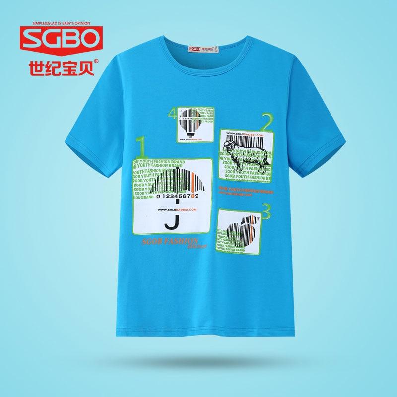 SGBO Childrens clothing boy cotton short sleeve T-shirt summer big boy children round collar short t boy half sleeve  7D3091<br><br>Aliexpress