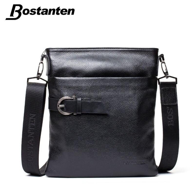 BOSTANTEN Small Vintage Men Messenger Bags Famous Brand 2017 Crossbody Casual Bag Genuine Leather Bag Mens Shoulder Bag Laptop<br><br>Aliexpress