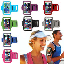 GEUMXL GYM Workout Sport Run Riding Arm Band Waterproof PU Armband Leather Cover For iPhone 6S Plus Case(China)