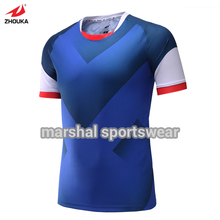 High quality DIY sublimation custom blank soccer jersey set,100%polyester