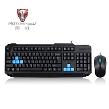 MOTOSPEED Esport USB Wired Gaming Keyboard & Mouse Combo Set Kit Specially for Notebook PC Laptop Desktop Game Player