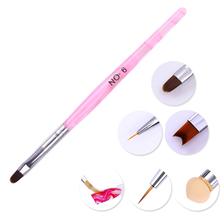 Acrylic UV Gel Nail Brush French Tips Gradient Painting Drawing Pen Cuticle Cleaning Manicure Nail Art Tool(China)